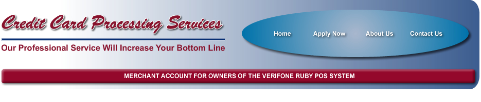 Merchant Account for Owners of the Verifone Ruby POS System